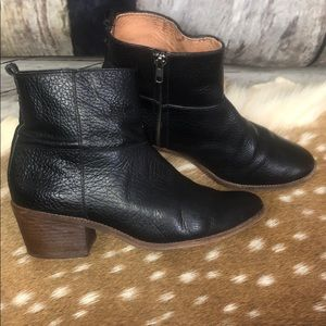 Madewell Perrie Black Leather Booties Sz 10